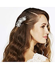 Jon Richard Crystal Flower Hair Comb