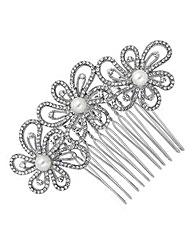 Jon Richard Crystal Flower Hair Comb