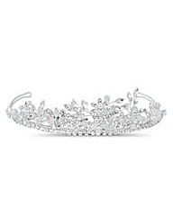 Jon Richard Crystal Floral Spray Tiara