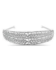 Jon Richard Crystal Leaf Headband