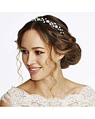Jon Richard Flower Pearl Wave Headband