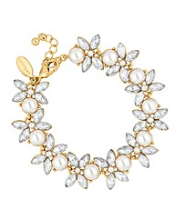 Jon Richard Pearl And Crystal Bracelet