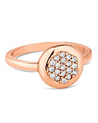 Simply Silver Rose Gold Embellished Ring