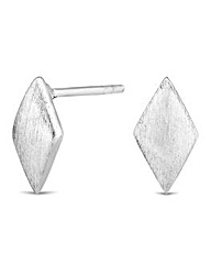 Simply Silver Textured Kite Stud Earring
