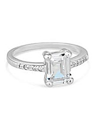 Simply Silver Square Surround Ring