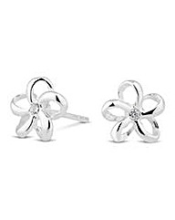 Simply Silver Flower Stud Earring