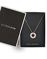 Jon Richard Rose Gold Circle Necklace