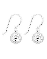 Simply Silver Ball Drop Earring