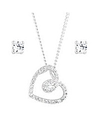 Alan Hannah Cubic Zirconia Heart Set