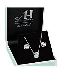 Alan Hannah Cubic Zirconia Halo Set