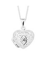 Simply Silver Lace Heart Necklace