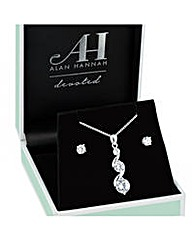 Alan Hannah Cubic Zirconia Drop Necklace