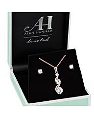 Alan Hannah Rose Gold Drop Necklace