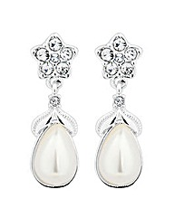 Jon Richard Crystal Flower Drop Earring