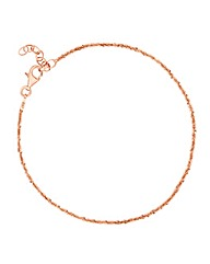Simply Silver Rose Gold Chain Bracelet