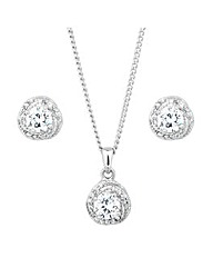 Jon Richard Cubic Zirconia Swirl Set