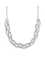 Jon Richard Pearl Diamante Necklace