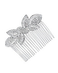 Jon Richard Crystal Bow Hair Comb