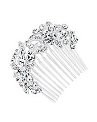 Jon Richard Curved Flower Hair Comb