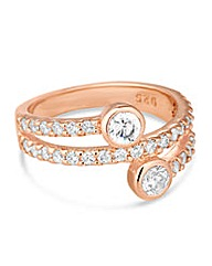 Simply Silver Rose Gold Wrap Ring