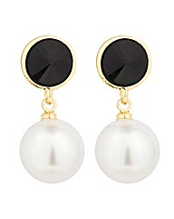Jon Richard Disc And Pearl Drop Earring