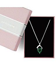Jon Richard Green Heart Drop Necklace