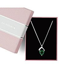 Jon Richard Green Heart Drop Necklace