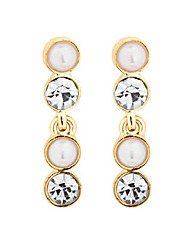 Jon Richard Pearl Crystal Drop Earring