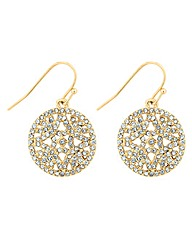Jon Richard Crystal Round Drop Earring