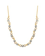 Jon Richard Pearl Crystal Link Necklace