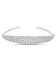 Jon Richard Crystal Stone Four Row Tiara
