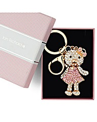 Jon Richard Crystal Teddy Keyring