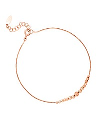 Simply Silver Rose Gold Ball Bracelet