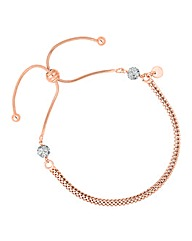 Simply Silver Rose Gold Toggle Bracelet