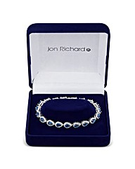 Jon Richard Blue Pear Drop Bracelet