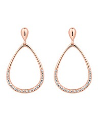 Simply Silver Rose Gold Teardrop Earring