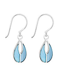 Simply Silver Blue Pearl Drop Earring