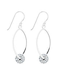 Simply Silver Ball Twist Drop Earring