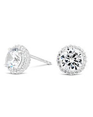 Simply Silver Round Stud Earring