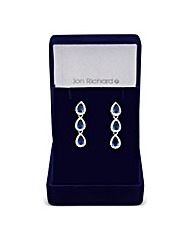 Jon Richard Blue Teardrop Earring
