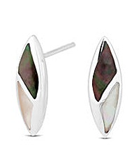 Simply Silver Pearl Leaf Stud Earring