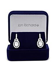 Jon Richard Cubic Zirconia Oval Earring