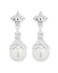 Jon Richard Pearl Capped Drop Earring