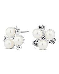 Alan Hannah Pearl Crystal Stud Earring