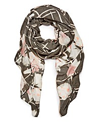 Pieces Floral Pattern Scarf