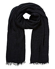Pieces Texture Plain Scarf