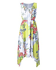 Print Dipped Hem Maxi Dress