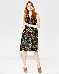 V-Neck Floral Print Shift Dress