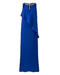 Waterfall Bead Neck Maxi Dress