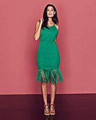 Crochet Fringed Strappy Dress